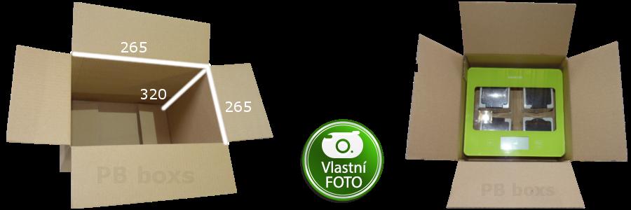 Klopová krabice 265x265x320 mm s mřížkou
