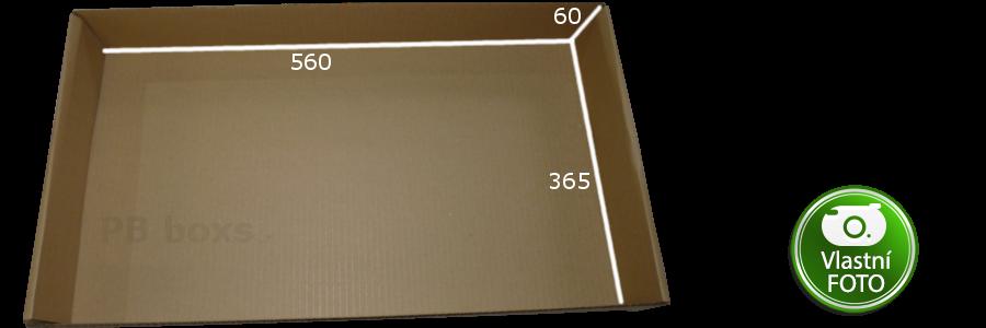 Kartonová přepravka 560x365x60 mm