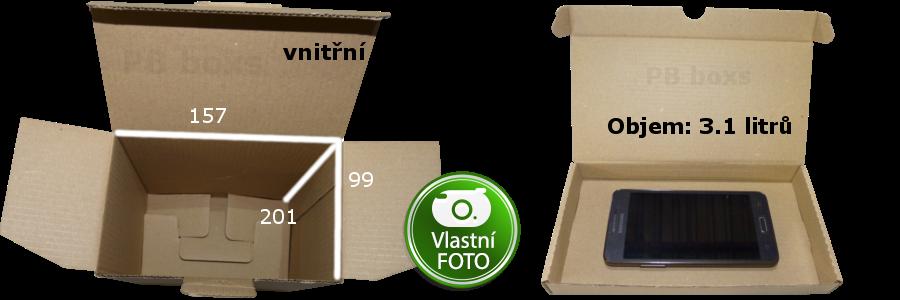 Výseková krabice 157x99x201 mm